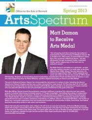 Matt Damon to Receive Arts Medal - Office for the Arts at Harvard