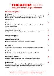 Spielzeit 2012 | 2013 Premieren 2 - Frankfurt, Theaterhaus