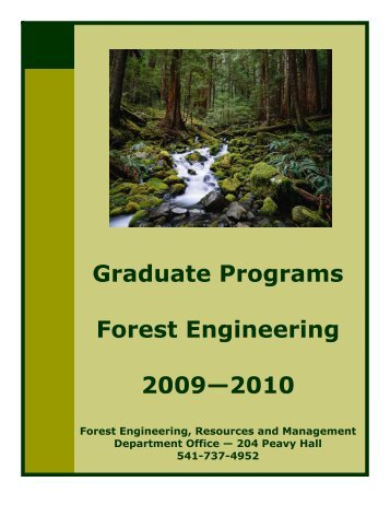 FERM FE Graduate Guide 2009-2010.pub - Forest Engineering ...
