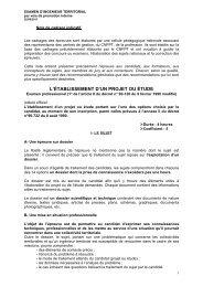 L'ÉTABLISSEMENT D'UN PROJET OU ÉTUDE - CDG69