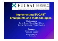 Implementing EUCAST breakpoints and methodologies
