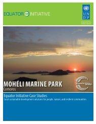 MOHÉLI MARINE PARK - Equator Initiative