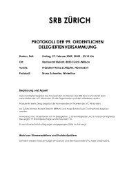 srb zürich protokoll der 99. ordentlichen delegiertenversammlung