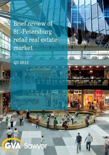 Retail real estate market, St.Petersburg, 3Q2012 - GVA Sawyer