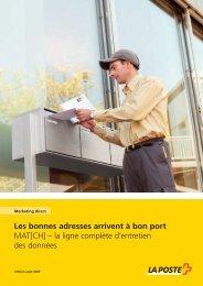 Brochure MAT[CH] - La Poste Suisse