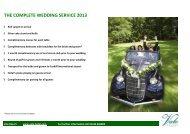 THE COMPLETE WEDDING SERVICE 2013 - Vale Resort