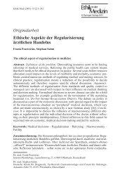 Originalarbeit Ethische Aspekte der ... - Frank Praetorius