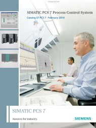 SIMATIC PCS 7 Process Control System - Industry