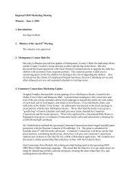 Regional TDM Marketing Meeting Minutes - Metropolitan ...