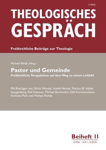 Pastor und Gemeinde - Theologisches Seminar Elstal