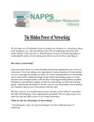 The Hidden Power of Networking - National Association of ...