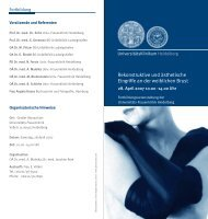 Rekonstruktive und ästhetische Eingriffe an der weiblichen Brust