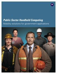 Public Safety Handheld Computing - Motorola Solutions