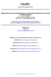 Medical doctors and complementary and alternative medicine
