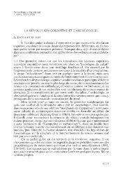 Cl. Gardin, La révolution cognitive et l'archéologie - Serit
