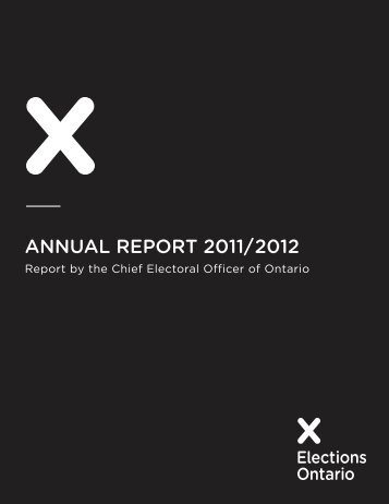 ANNUAL REPORT 2011/2012 - Elections Ontario