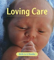 Loving Care: Birth to 6 Months - The Nova Scotia Legislature The ...