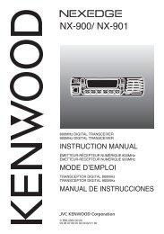 NX-900/ NX-901 - Kenwood