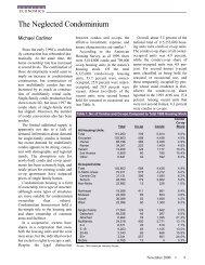 The Neglected Condominium - Michael Carliner