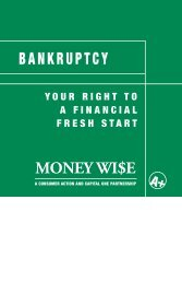 bankruptcy – a consumer action and capital one partnership