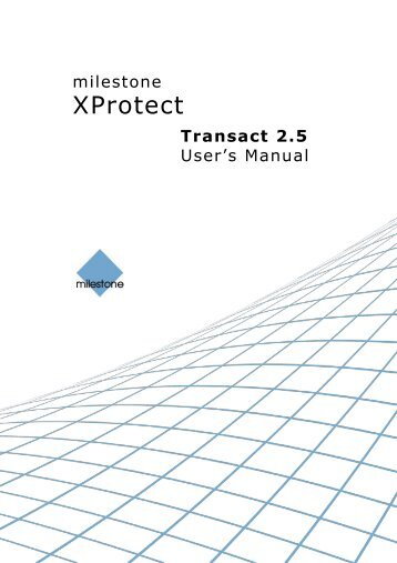 Xprotect corporate manual.