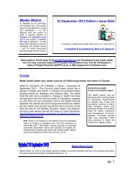 Media Watch (#324) - IPCRC.NET