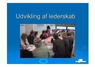 Udvikling af lederskab hos CEU Kolding - SCKK