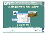 Metagenomics and Megan - Algorithms in Bioinformatics