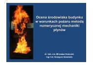 Ocena środowiska budynku w warunkach pożaru metodą ...