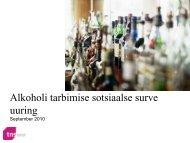 Alkoholi tarbimise sotsiaalse surve uuring - Tervise Arengu Instituut