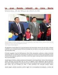 La gran Ronda Infantil de Lima Norte Miércoles, 25 de Mayo de ...