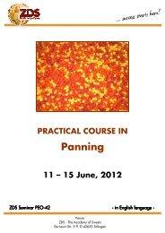 PEO-42 Panning Course - Zentralfachschule der Deutschen ...