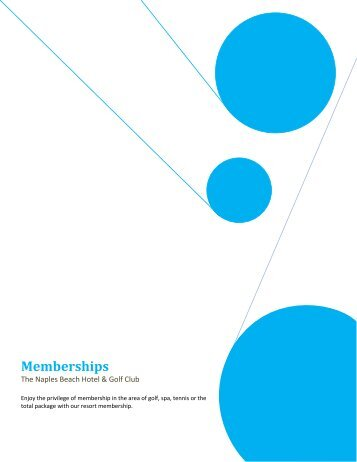 Memberships - Naples Beach Hotel & Golf Club