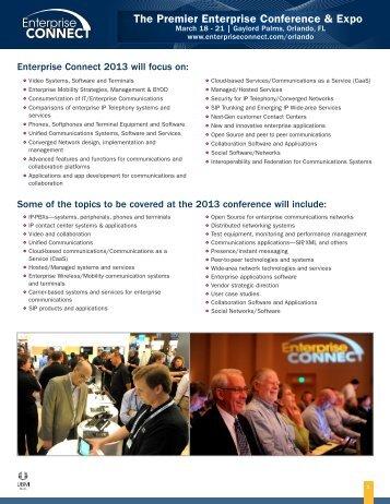 Enterprise Connect Orlando 2013 Overview - UBM TechWeb
