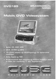 DVD185 Mobilt DVD Videosystem