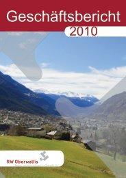 Geschäftsbericht 2010 - RW Oberwallis