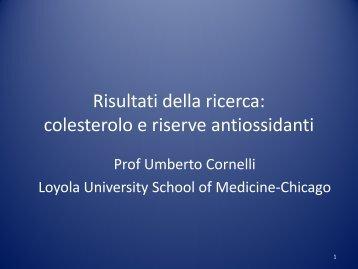 Risultati della ricerca: colesterolo e riserve antiossidanti