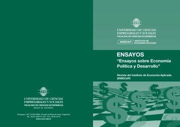 """""""Ensayos sobre Economía Política y Desarrollo"""" (PDF) - UCES"""