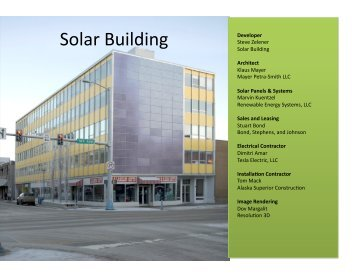 Solar Building - Renewable Energy Alaska Project