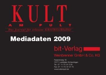 Mediadaten 2009 - Kult