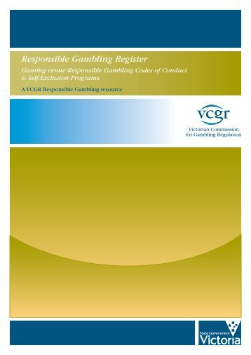 Victorian commission for gambling and liquor regulation (vcgr) counter