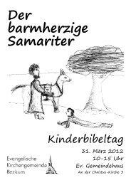 Der barmherzige Samariter - Evangelische Kirchengemeinde Beckum