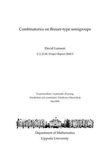 Combinatorics on Brauer-type semigroups