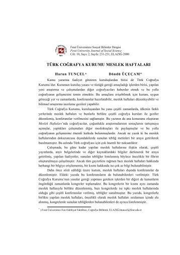 Türk Coğrafya Kurumu Meslek Haftaları