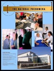 the natural phenomena - College of Natural Sciences - California ...
