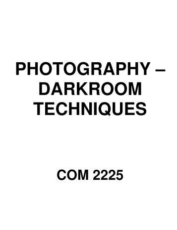 Photo-Darkroom Techniques