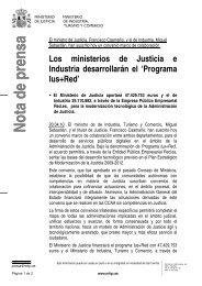 Nota de prensa completa [pdf] - Ministerio de Industria, Energía y ...