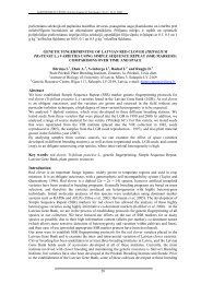genetic fingerprinting of latvian red clover (trifolium pratense l.)