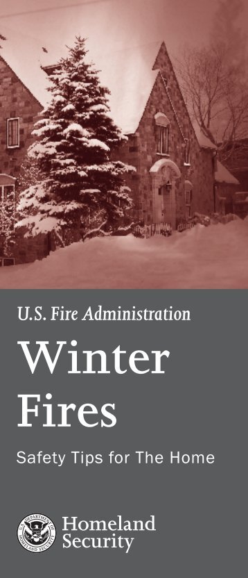 Winter Fires: Safety Tips for the Home - US Fire Administration