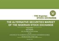THE ALTERNATIVE SECURITIES MARKET - The Nigerian Stock ...